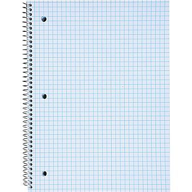 Staples Graph Ruled  X  Spiral Notebook Assorted Colors  X