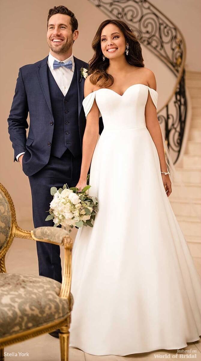 Stella york fall wedding dresses stella york satin wedding