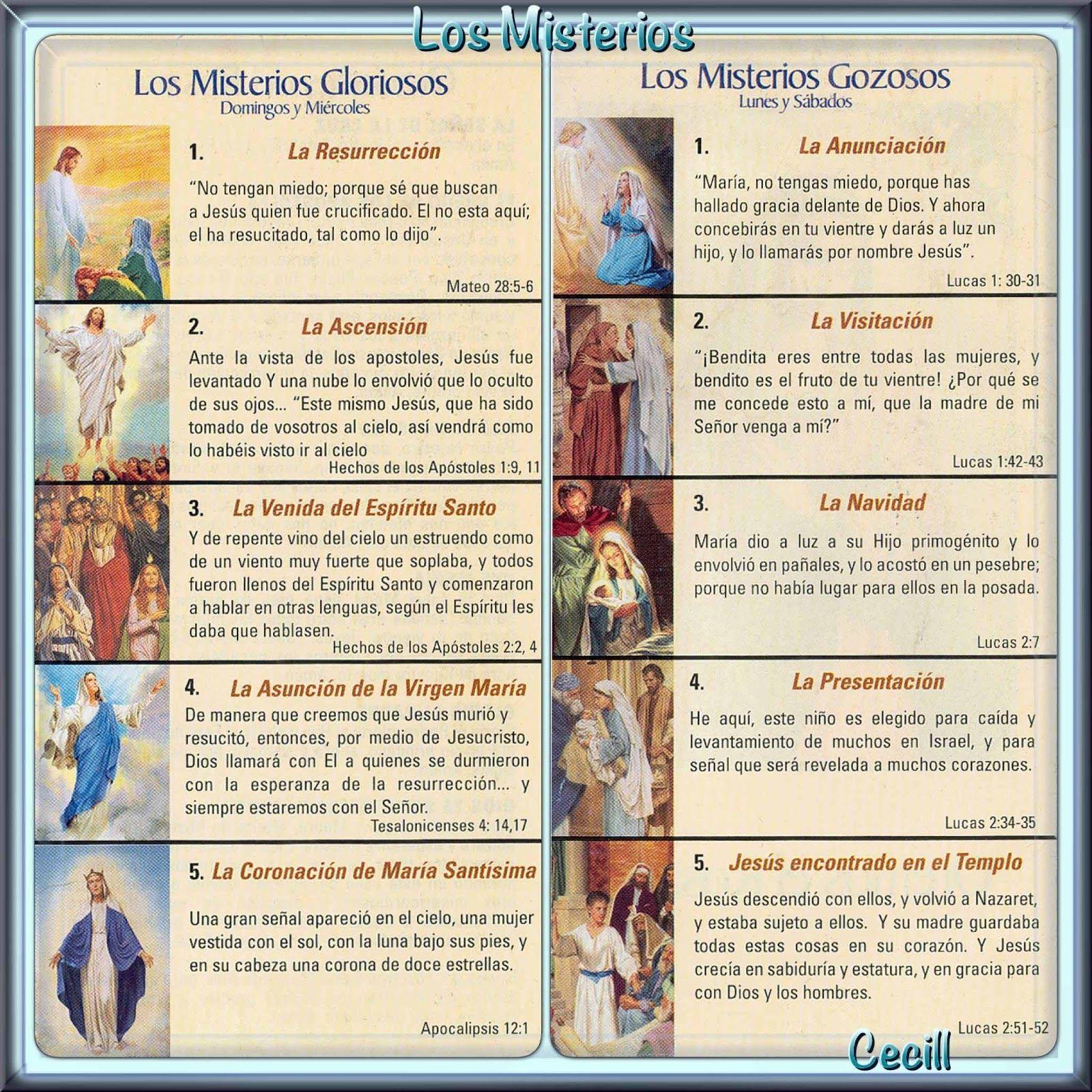 Imágenes De Cecill Como Rezar El Santo Rosario Recemos El Santo Rosario Santo Rosario Rosarios