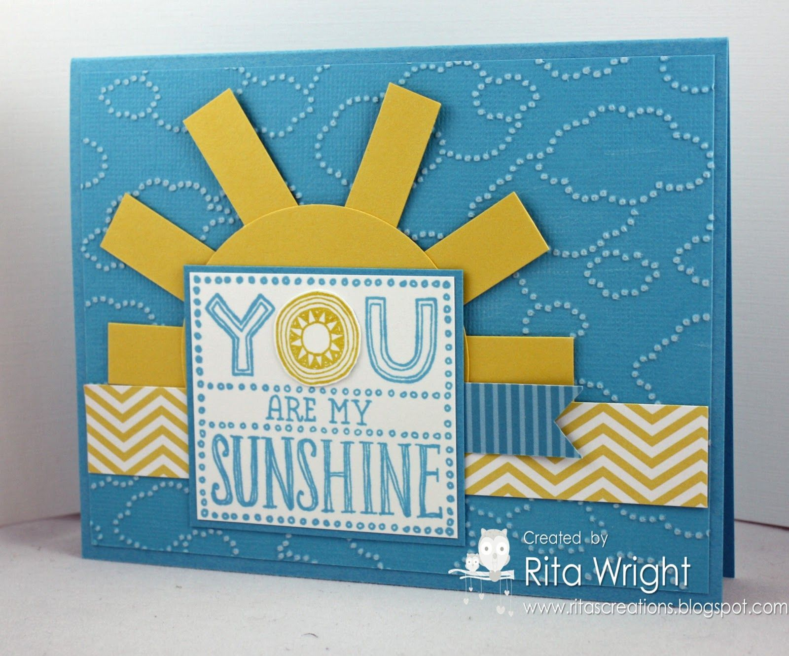 Card by Rita Wright  (070613)  using Stampin' Up!  Cloudy Day e/f