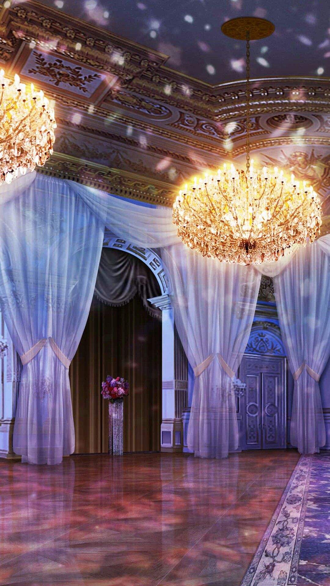 Ballroom at the Gala night Anime backgrounds wallpapers