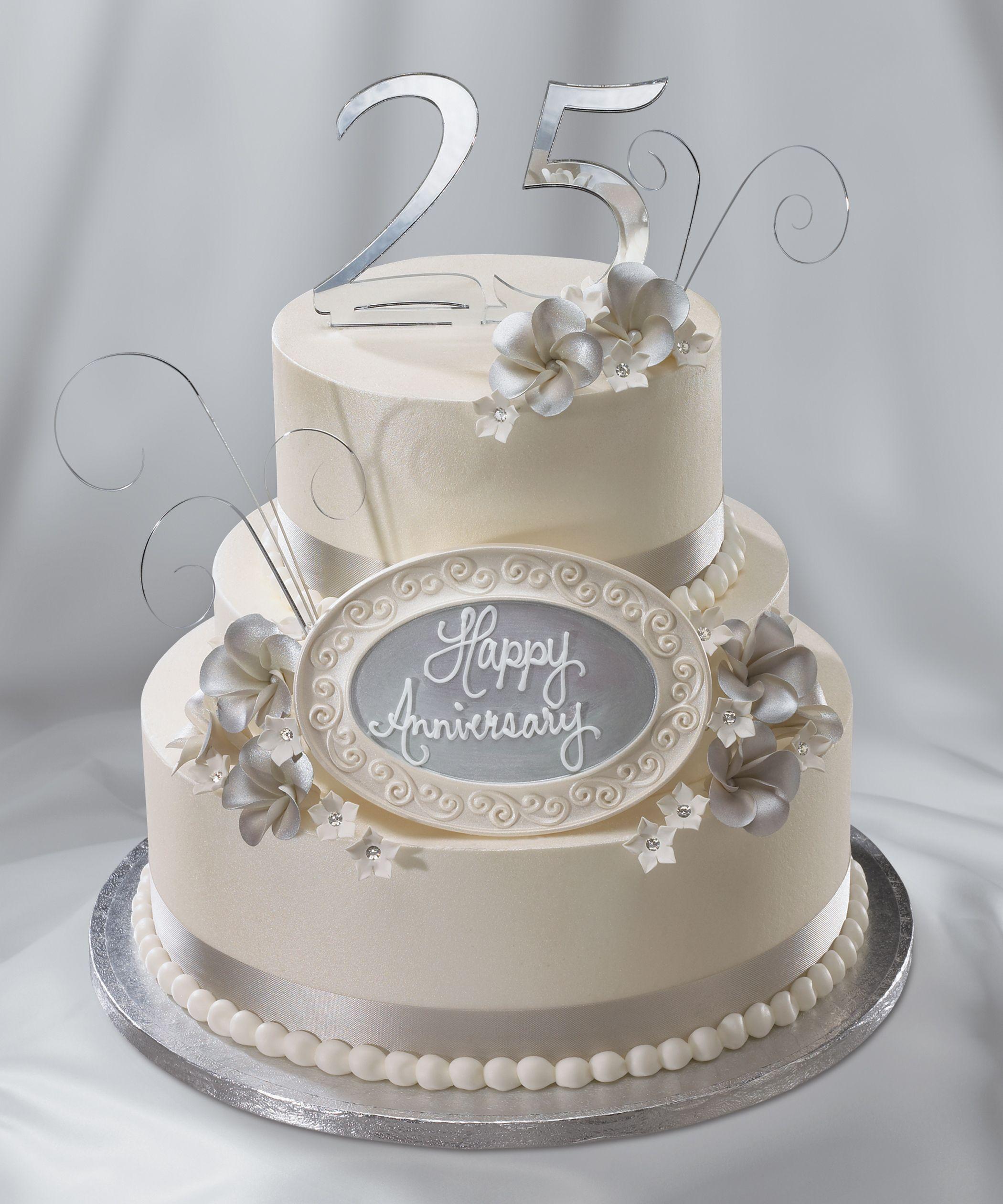 25th Wedding Anniversary Cake Silver Anniversary
