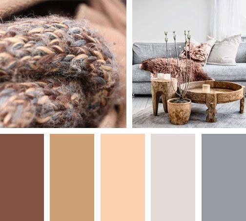 Una Paleta De Colores En Cafes Y Miel Que Visualmente Contraresta La Sensacion Del Frio O Paletas De Colores Grises Colores De Interiores Colores Para Comedor