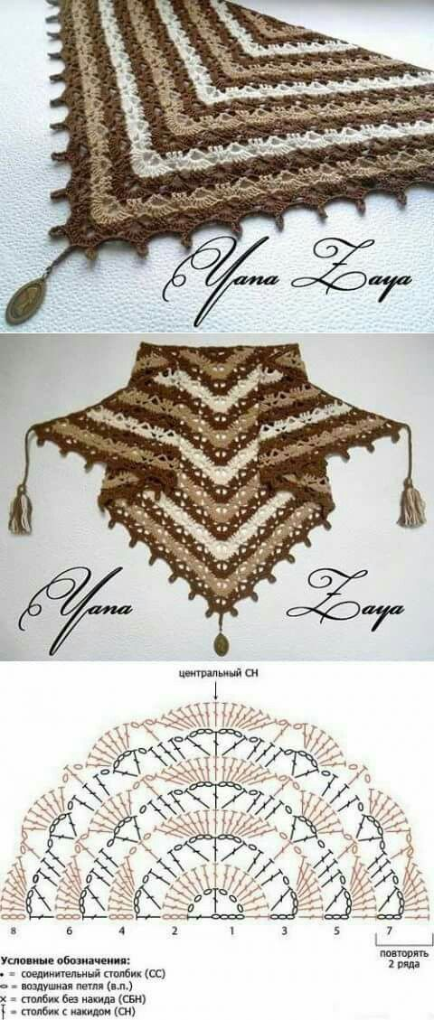 Scialle | Scarfs | Pinterest | Chal, Ponchos y Blusas de crochet
