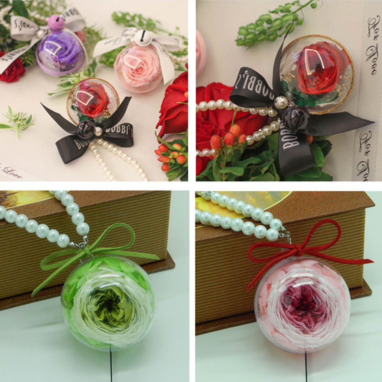 Plastic Ball Ornament Decorating Ideas 10 Pcs 6Cm Clear Fillable Hanging Plastic Ball Ornament Container