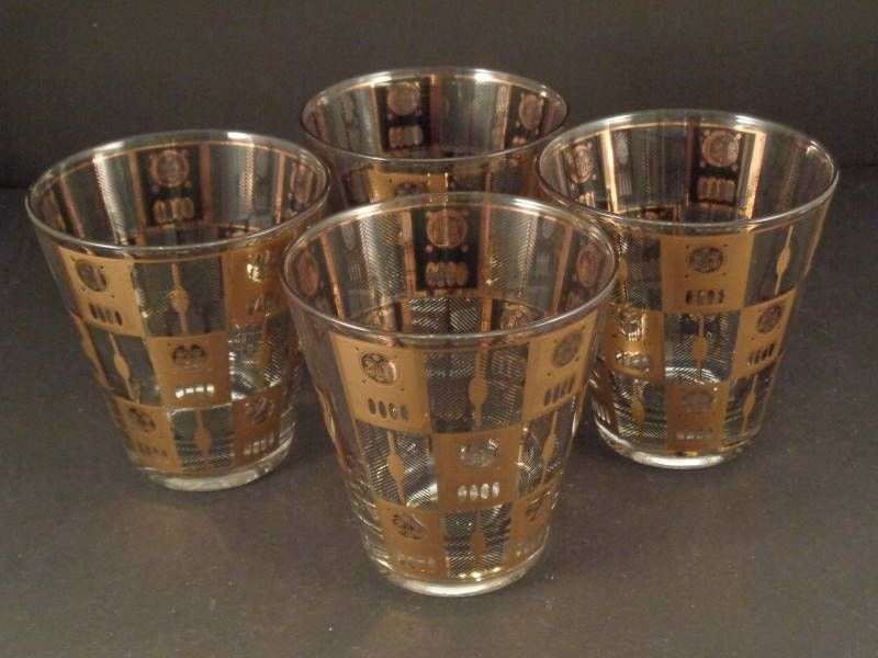 Culver Moonglow Vintage Double Old Fashioned Glasses Vintage Wine Glasses Patterned Glassware Glasses Fashion