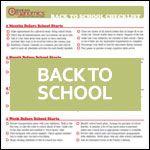 Checklist: Back to School