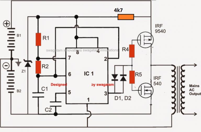 Pin on Inverter by Ne555