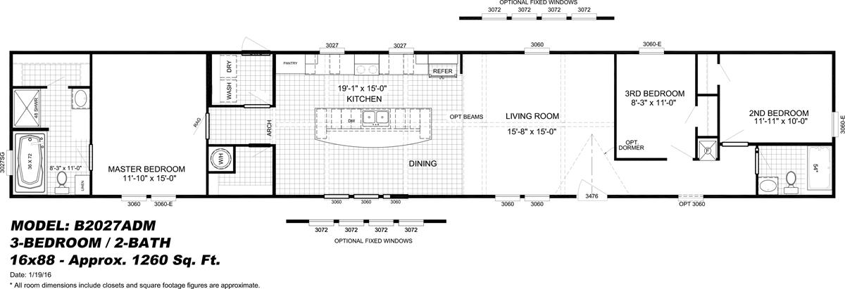 The Dewey Floor Plan Mobile Home Floor Plans Floor Plans House Floor Plans