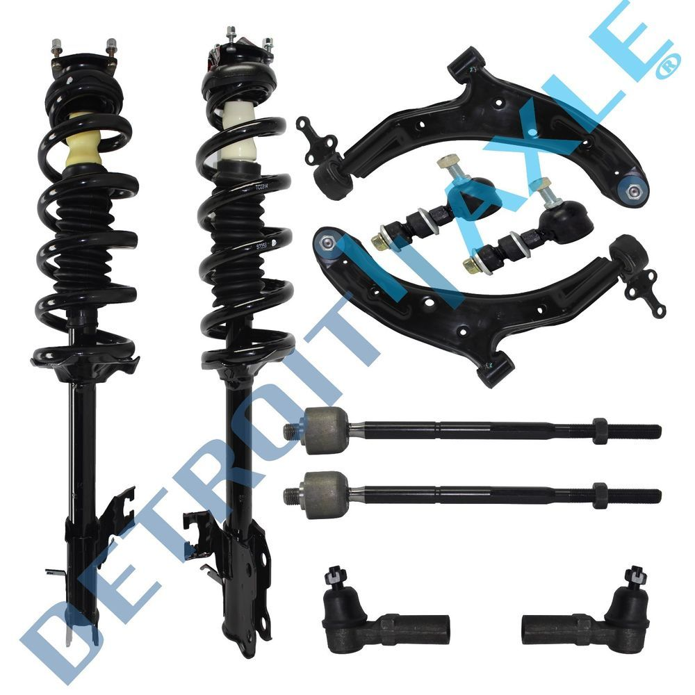 Front Driver /& Passenger Side Lower Control Arm /& Ball Joint Assembly New 4pc Kit Both Front Sway Bar Links for Chevy Equinox Detroit Axle Both 2 Pontiac Torrent 2
