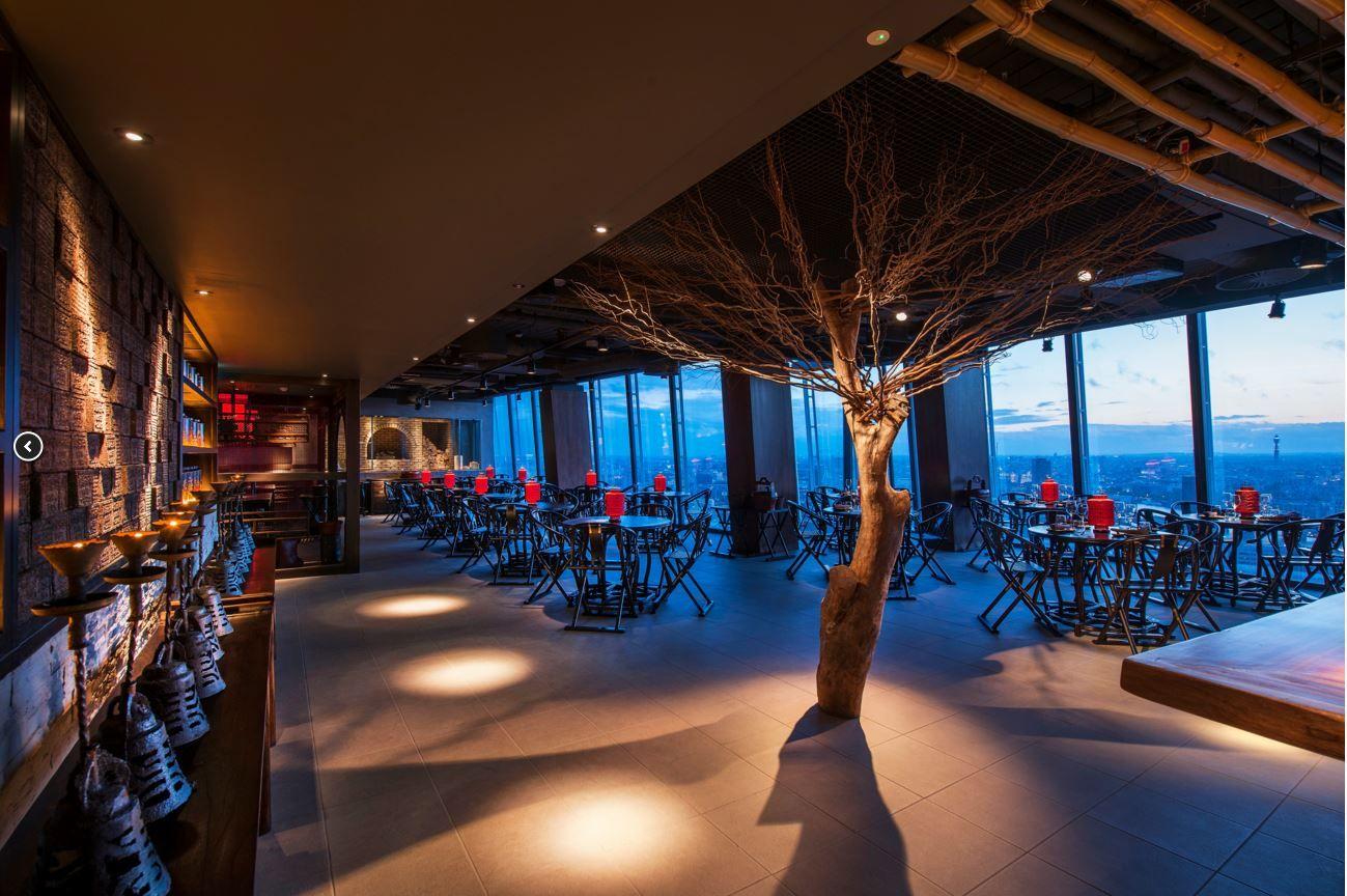 Hutong shard chinese restaurant london lighting scheme