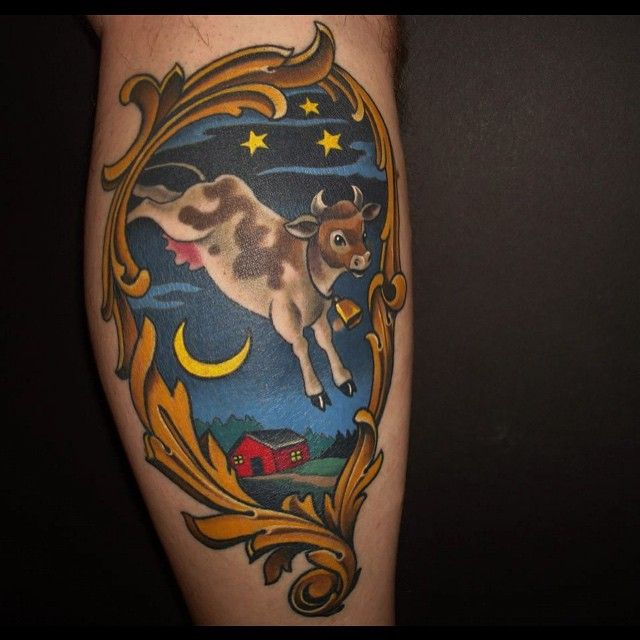 Image result for cow jumped over the moon tattoo