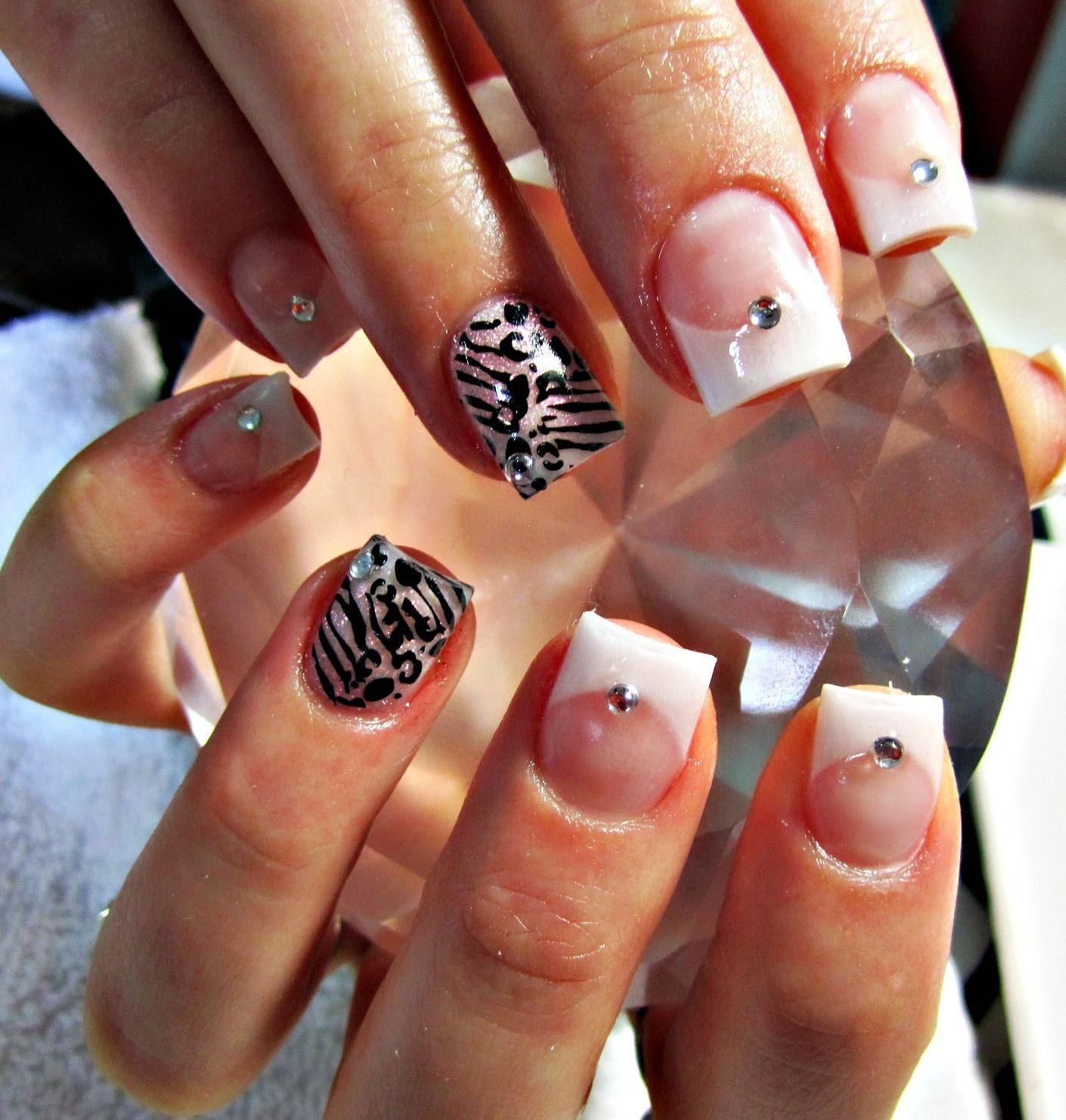 Wild french acrylic nails nails pinterest french acrylic nails