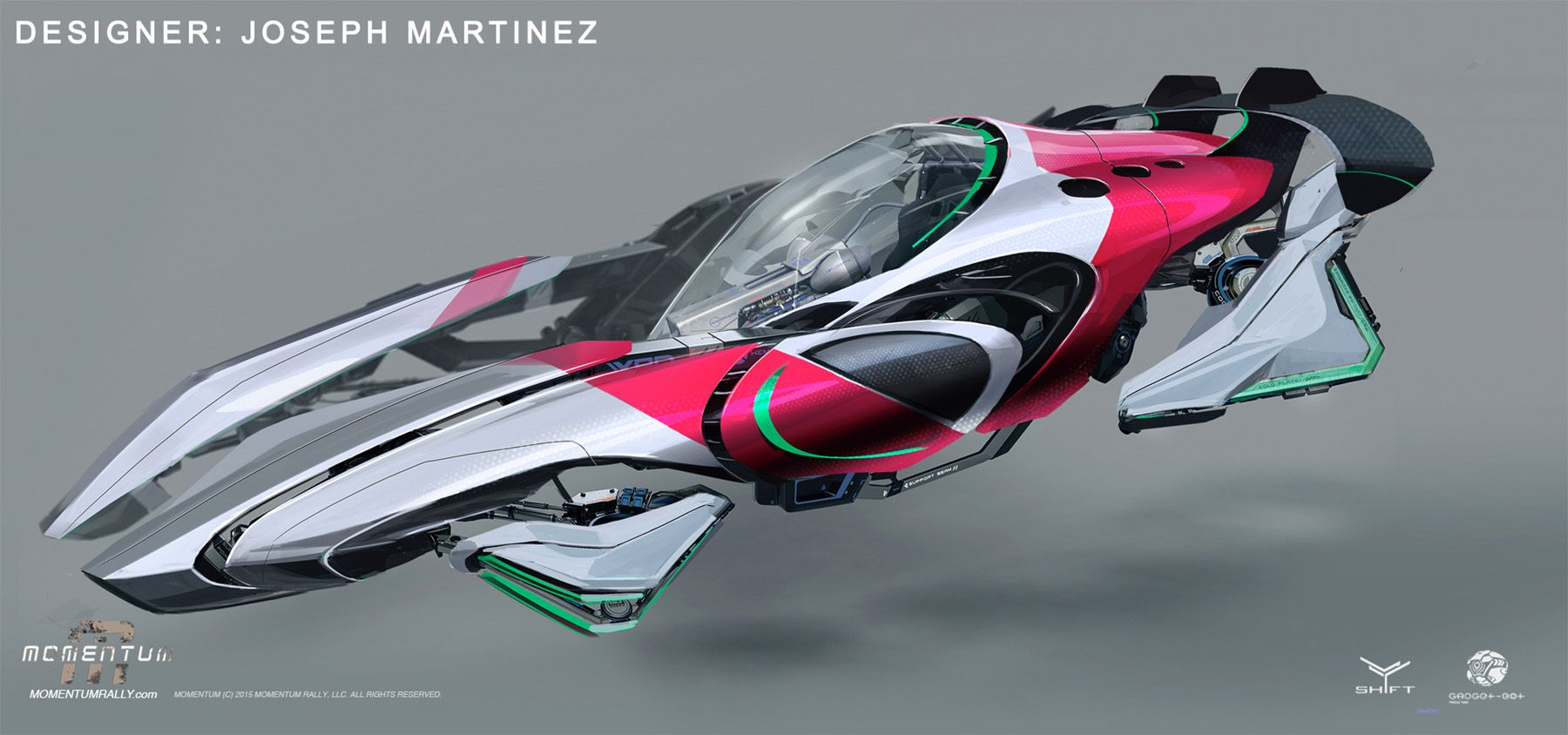 Vehicle designs from Momentum Spaceship concept