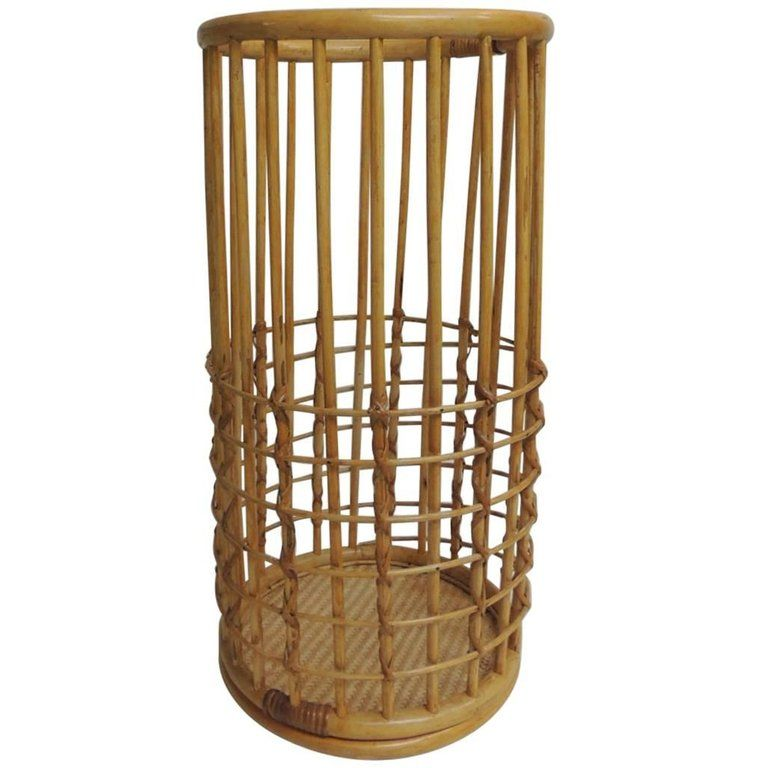 Vintage Large Round Bamboo Umbrella Stand From A Unique Collection Of Antique And Modern Umbrella Stands At Https Www Umbrella Stand Vintage Large Vintage