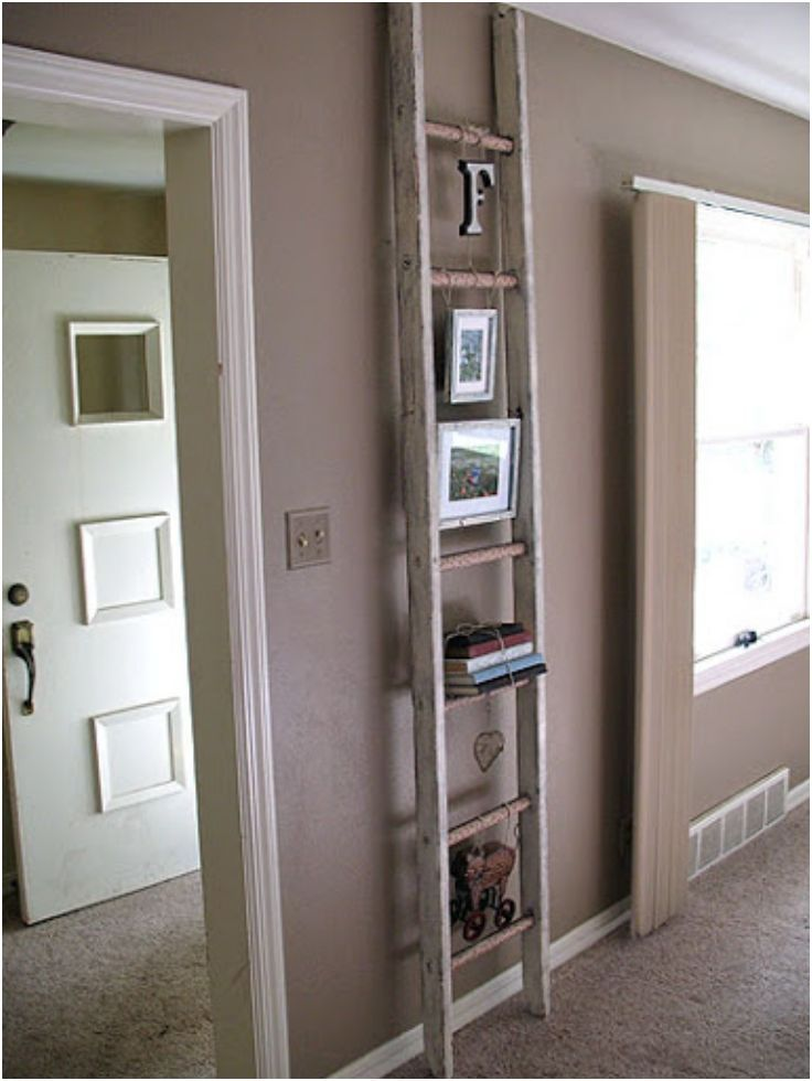 Old Ladder Ideas Diy Project And Photo Credit To Craftsbyamanda Com Old Wooden Ladders Home Diy Decor