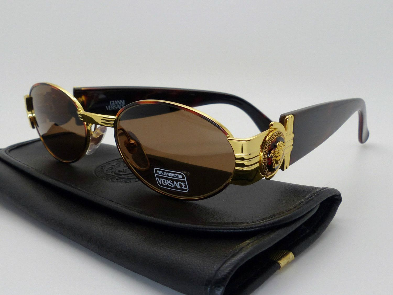 7577aec39f7 Genuine Rare Vintage Gianni Versace Medusa Sunglasses Mod S72 Col 07M *NOS*  by VSOx on Etsy