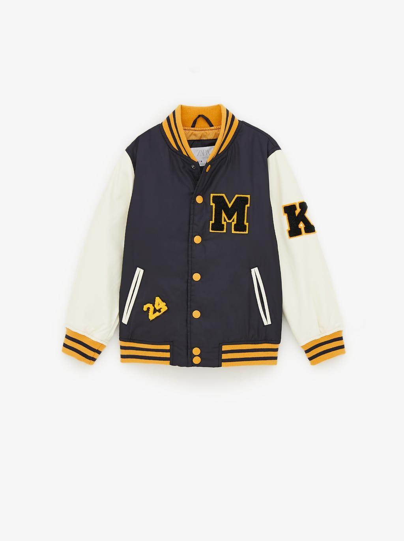 Bomber Varsity Combinada Tops Nino 6 14 Anos Ninos New Collection Zara Mexico Varsity Bomber Jacket Boys Bomber Jacket Jackets Men Fashion [ 1370 x 1024 Pixel ]