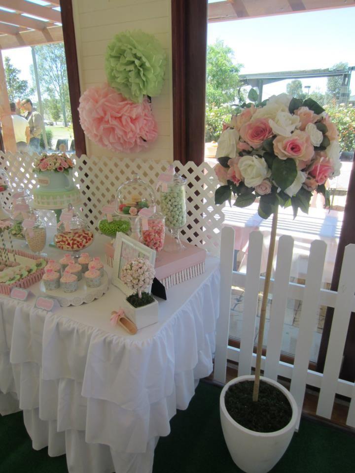 Rosey garden party via babyshowerideas party for Christening garden party ideas