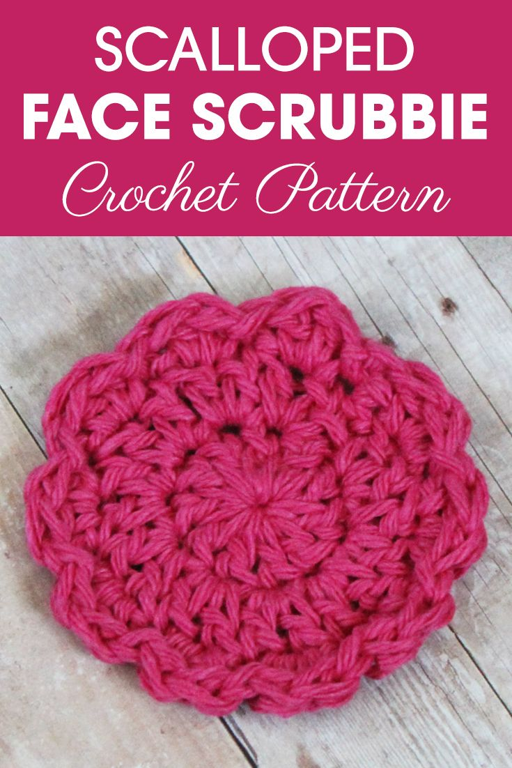 Scalloped Face Scrubbie Pattern | Crochet, Face and Free crochet