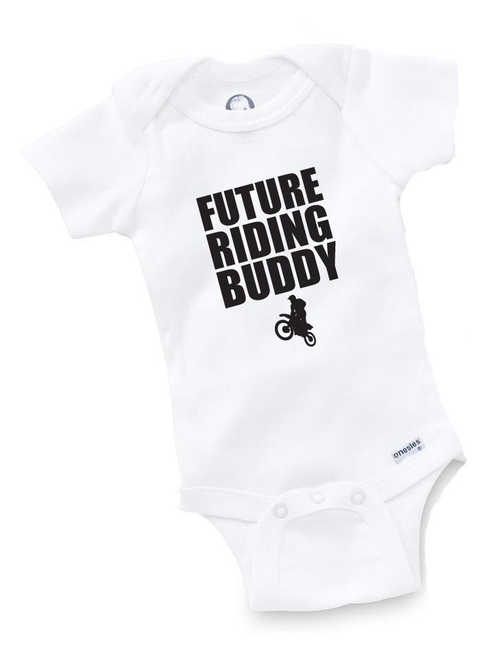 Future Riding Buddy Onesie Baby Shower Gift Motorcycle Moto X