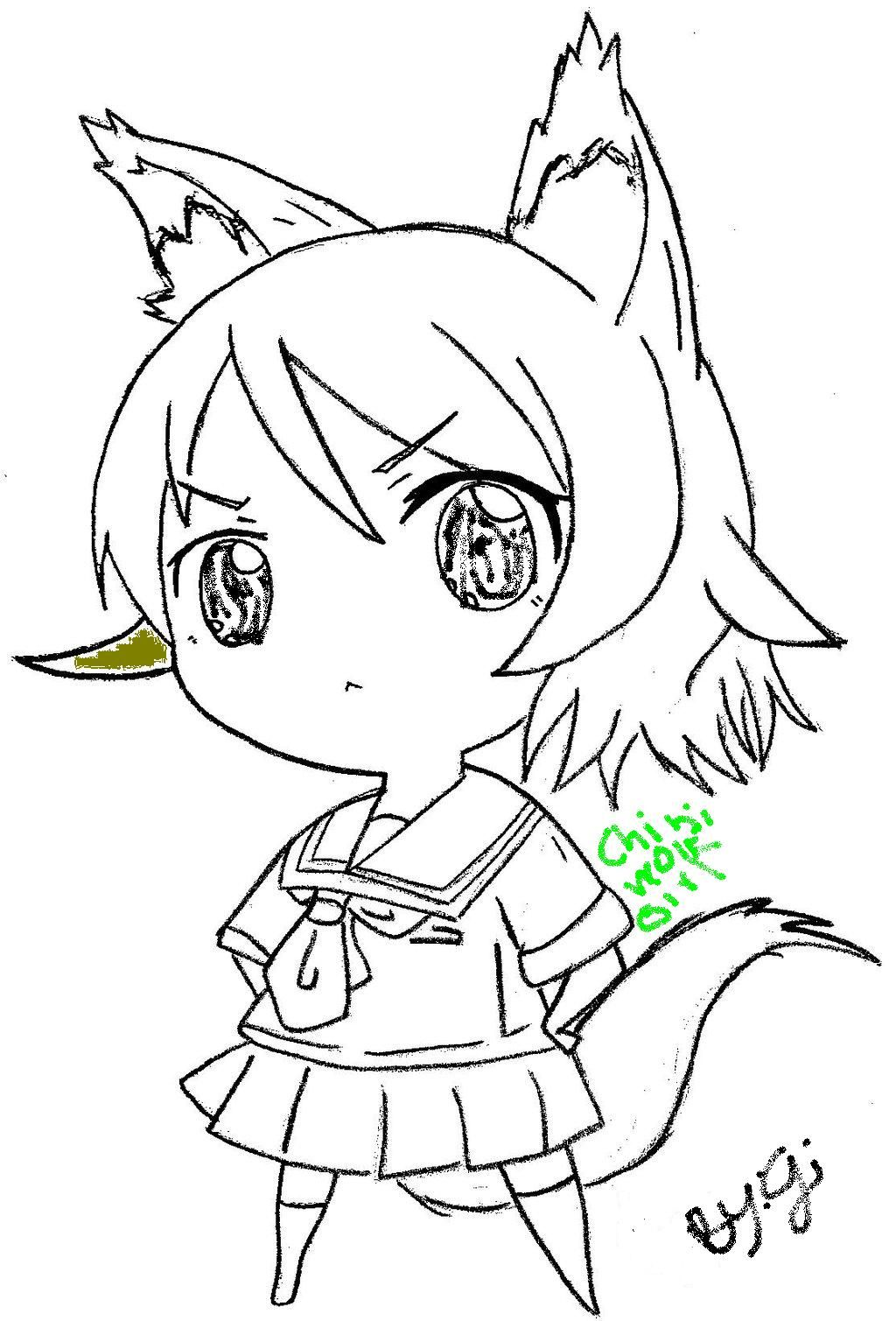 Chibi Wolf Girl Drawing Ipod123410 C 2016 Jun 19 2012 Anime Wolf Anime Wolf Girl Mermaid Coloring Pages