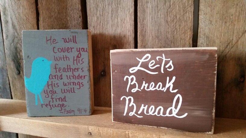 Wooden blocks, hand painted by Wendy, Speaks Creations