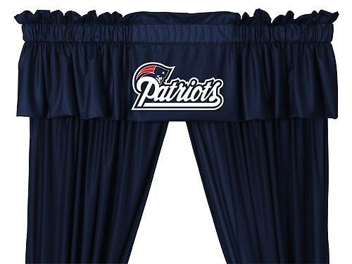 Nfl New England Patriots 5pc Jersey Drapes Curtains And Valance