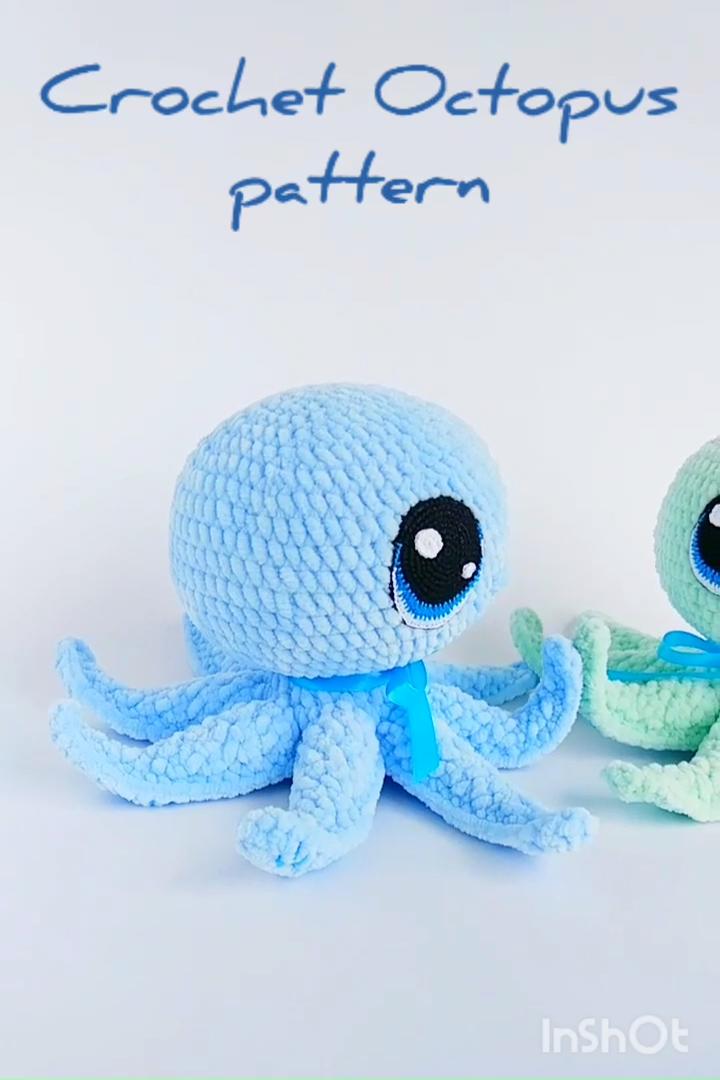 OCTOPUS CROCHET PATTERN, Crochet Sea creature pattern, Amigurumi toys patterns, Crochet animals