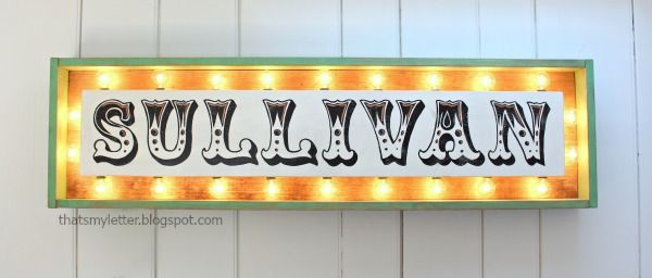 DIY Marquee sign with lights tutorial