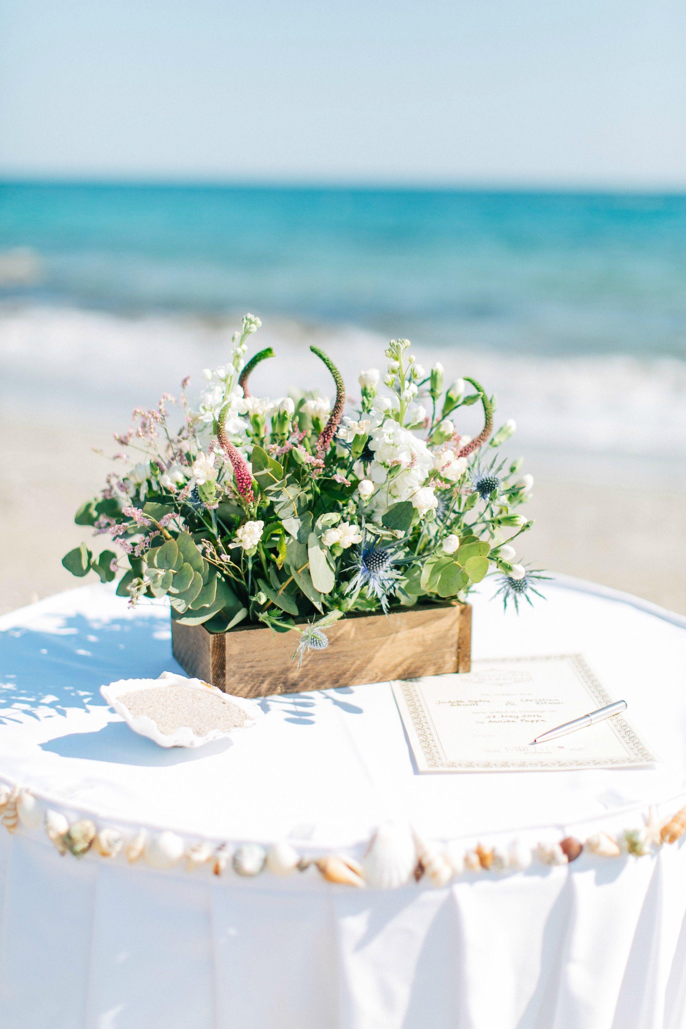 Beach Ceremony Table Decoration Hochzeitsdekoration