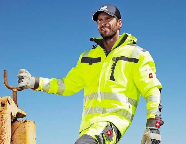 Warnschutz Softshell Jacke E S Motion Warngelb Anthrazit Safety Clothing Clothes Jackets