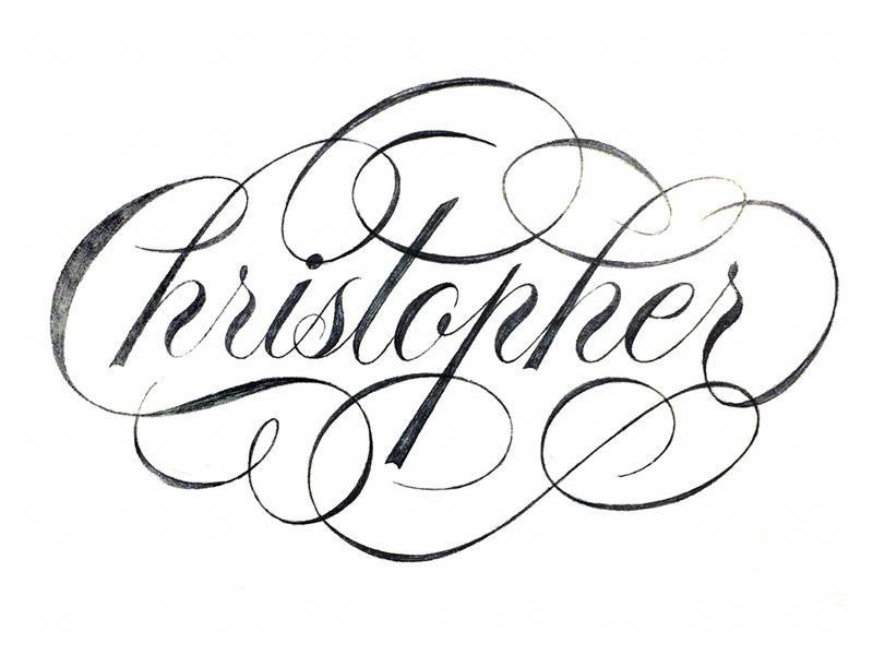 Christopher Cutebacktattoos Lettering Tattoo Name Fonts Tattoo Lettering