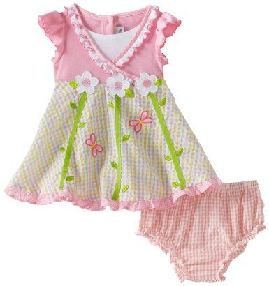 Youngland Baby Girls Infant Cascading Flower Seersucker Sundress