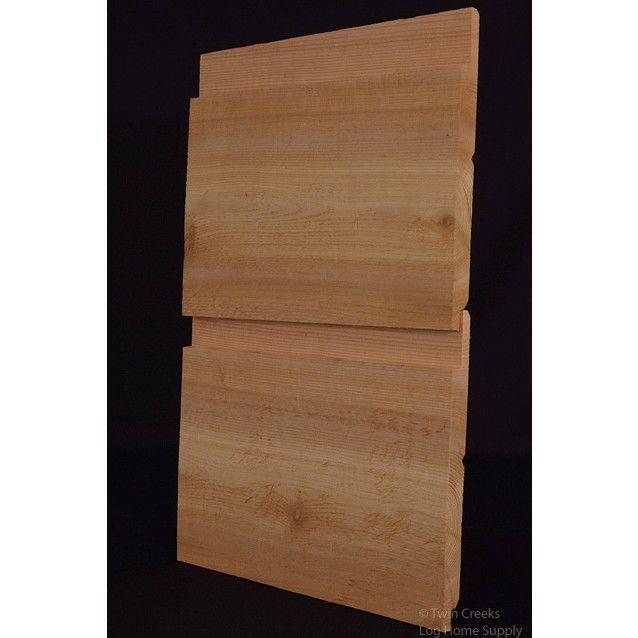 1x10 Western Red Cedar Channel Rustic Log Siding Boards