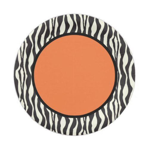 Shop Funky Zebra Paper Plates (Orange) created by KitchenShoppe.  sc 1 st  Pinterest & Funky Zebra Paper Plates (Orange)   Wild One Birthday Party   Pinterest
