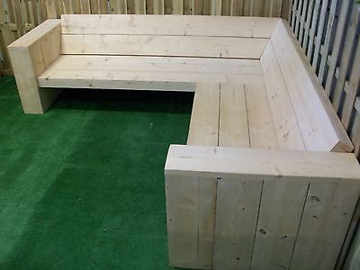 Scaffold Board Furniture   DIY Package For A Big Corner  Lounge Garden Sofa