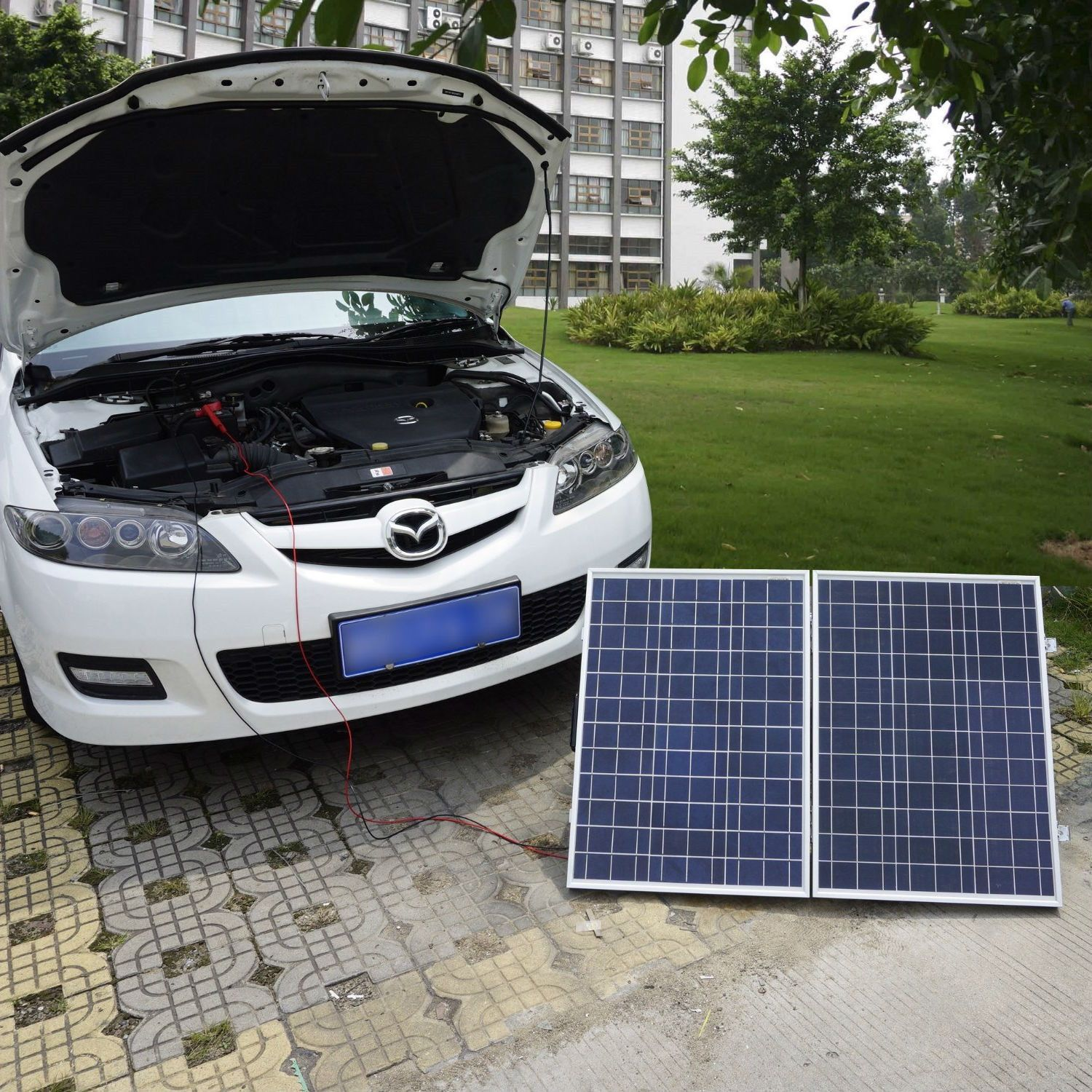 100 Watt Portable Folding Solar Panel 12v Battery Charger With Charge Controller Solar Panels Solar Battery Charger