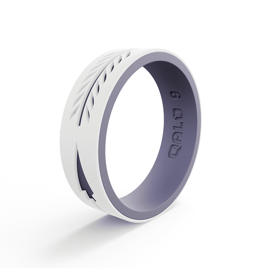 f8414b6f6308c Women's Strata White and Lilac Arrow Silicone Ring | WOMENS in 2019 ...