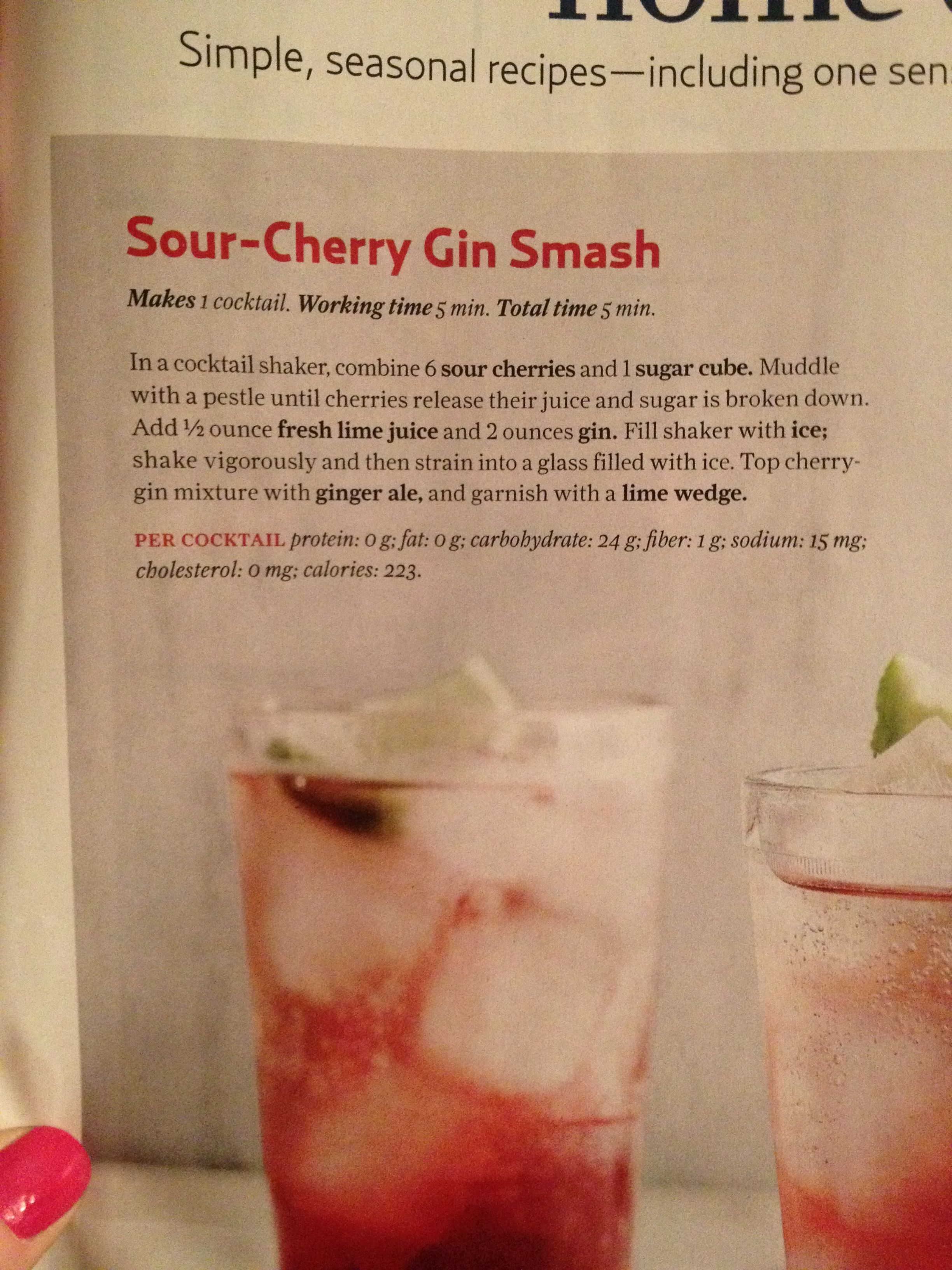 Sour-Cherry Gin Smash Sour-Cherry Gin Smash new images