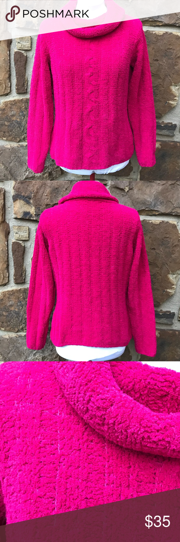 Pierre Cardin Warm and Cozy Sweater | Pierre cardin, Hot pink and Cozy