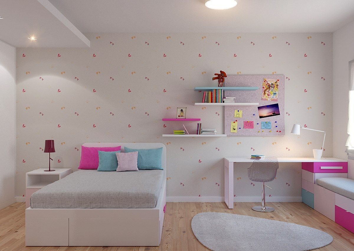 Quarto Pink Lady Decora O De Quarto Juvenil Inserido Em Projeto  ~ Decoração Quarto Infantil Princesas