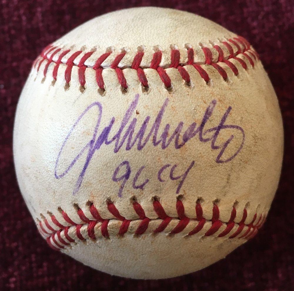 John Smoltz Signed Auto Autographed Mlb Baseball W Inscription 96 Cy Braves Ebay Mlb Baseball Mlb Braves