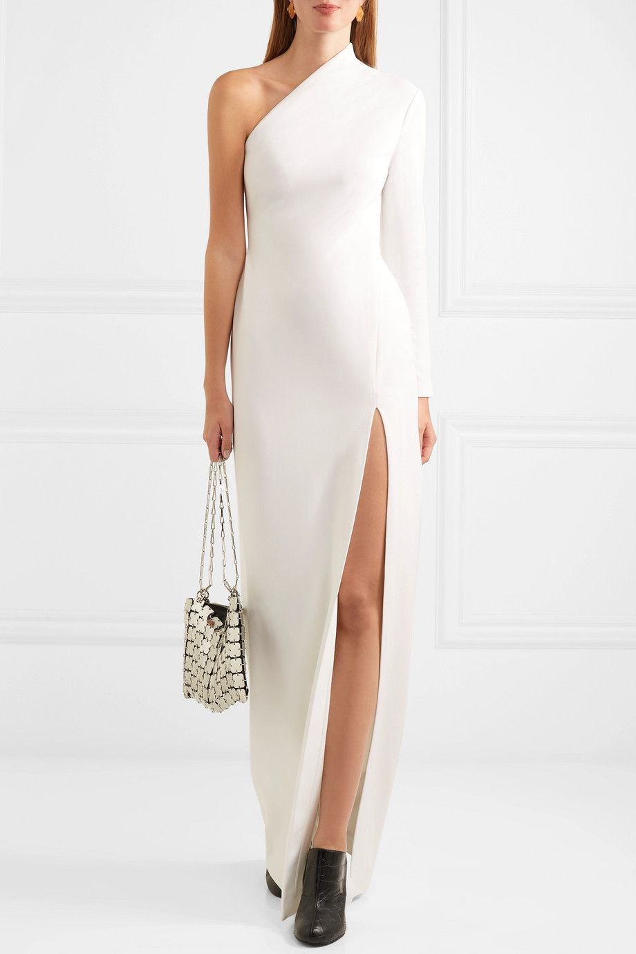 7a218bce Solace London | Nadia one-shoulder stretch-crepe gown | Fashion Lust ...
