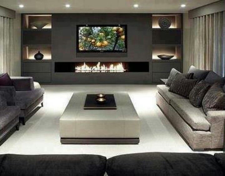 Living room ideas · best way to incorporate tv in your interior design project