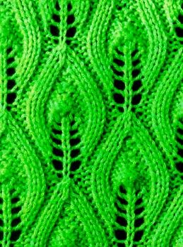 Blattmuster Schal Stricken Muster Kostenlose Strickmuster Blattmuster