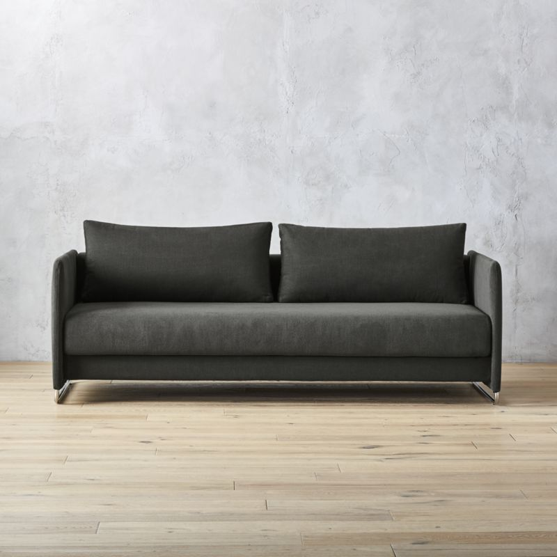 Strange Tandom Dark Grey Sleeper Sofa Furniture Sofa Best Gmtry Best Dining Table And Chair Ideas Images Gmtryco