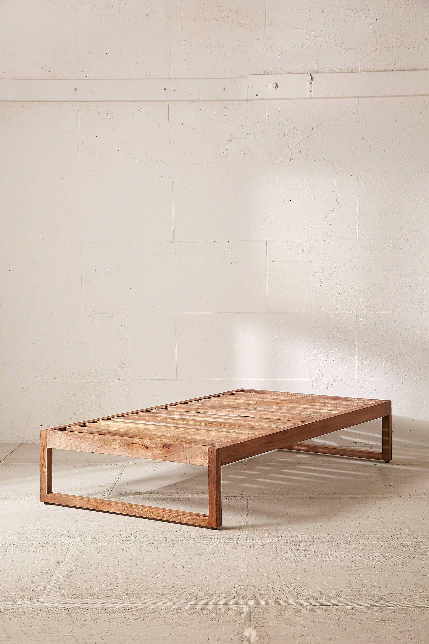 twin xl headboard and frame on morey platform bed twin xl bed frame minimalist bed diy twin bed pinterest