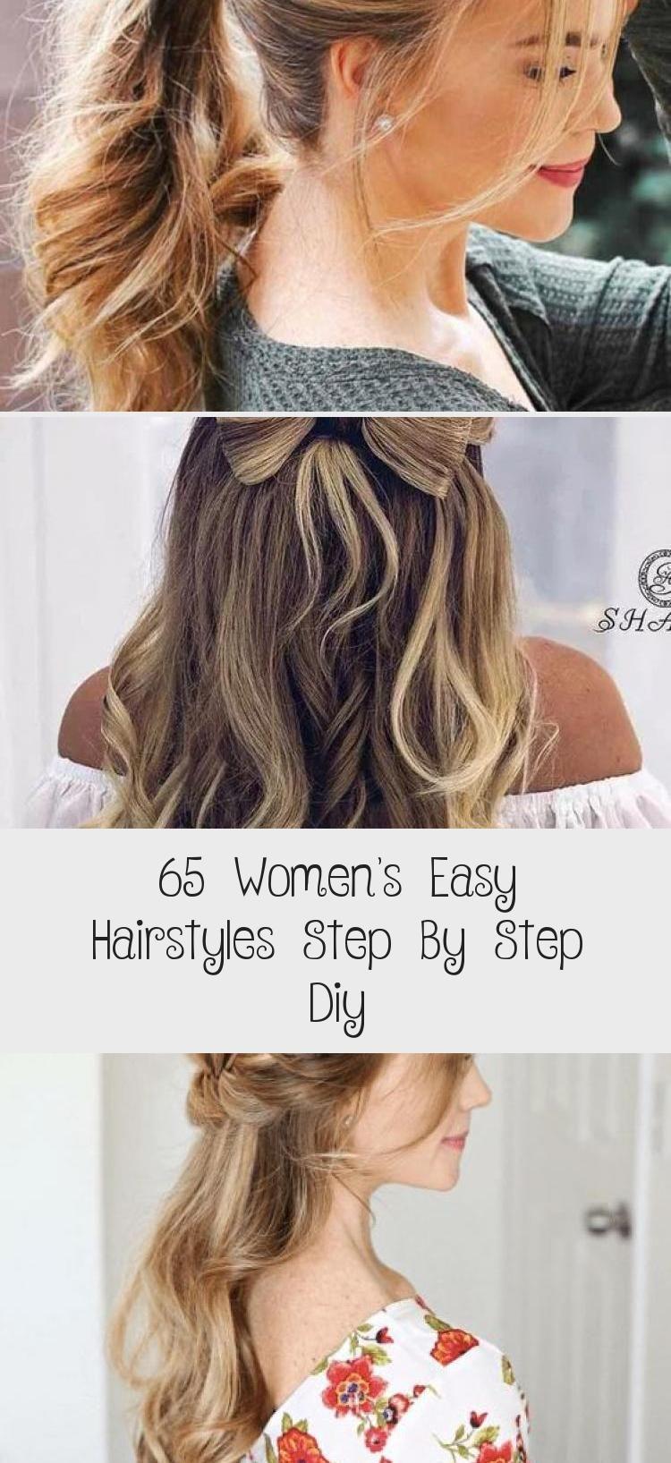 65 Einfache Frisuren für Frauen Schritt für Schritt Diy – HairStyles