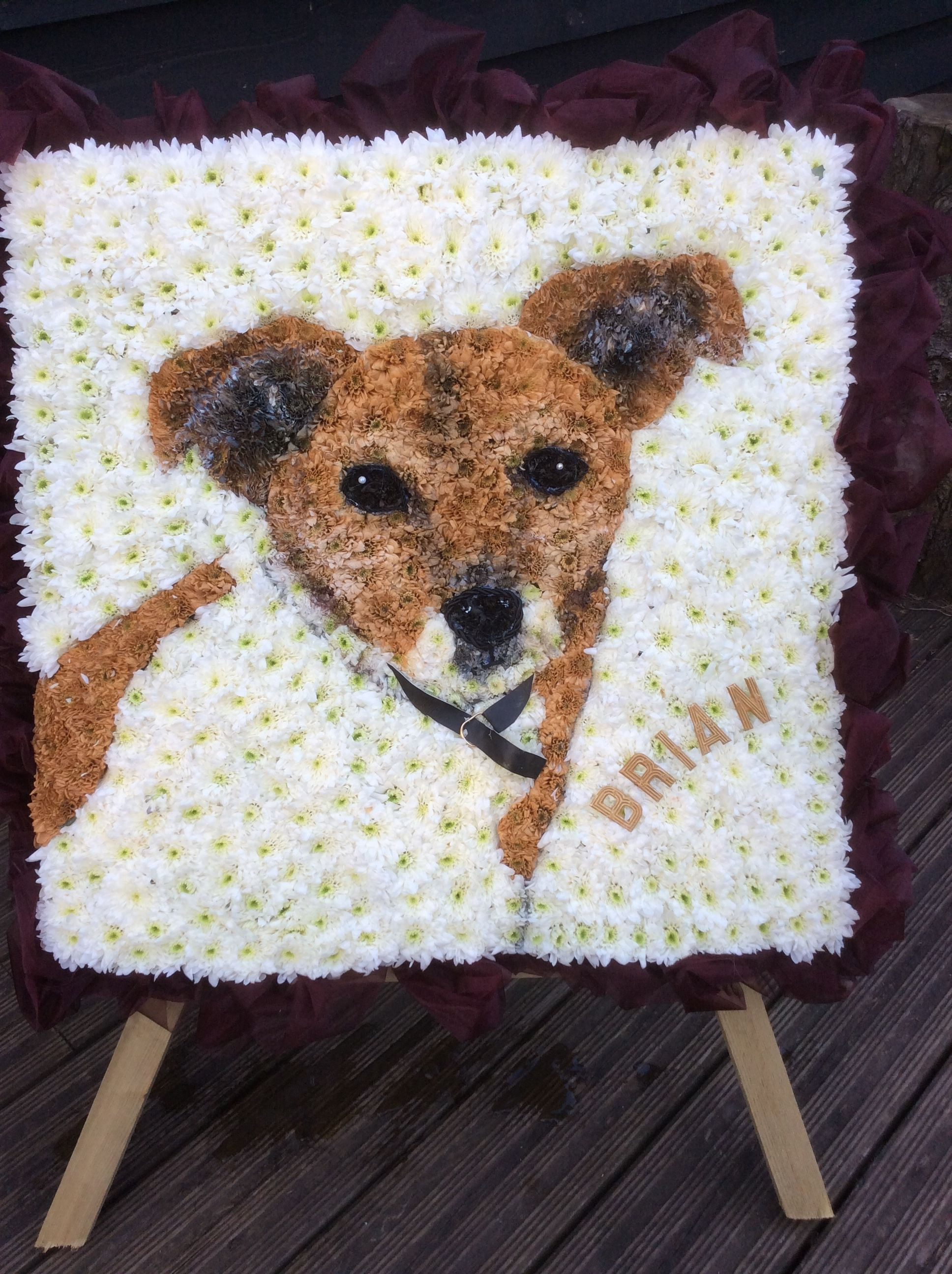 2d dog flower picture picture made of flowers funeral flower 2d dog flower picture picture made of flowers izmirmasajfo